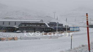 Ισχυρή χιονόπτωση στον Παρνασσό