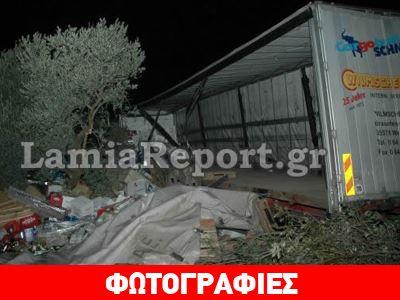«Αδέσποτη» ρεζέρβα προκάλεσε εκτροπή νταλίκας στη Στυλίδα