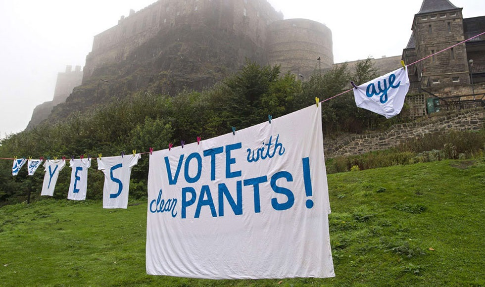 «Vote with clean pants»