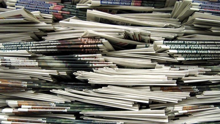 Τα πρωτοσέλιδα των κυριακάτικων εφημερίδων...