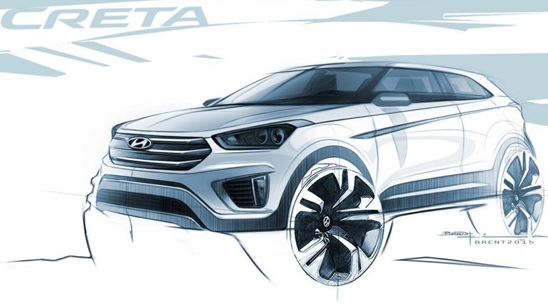 Τα πρώτα σκίτσα του «κρητικού» crossover της Hyundai
