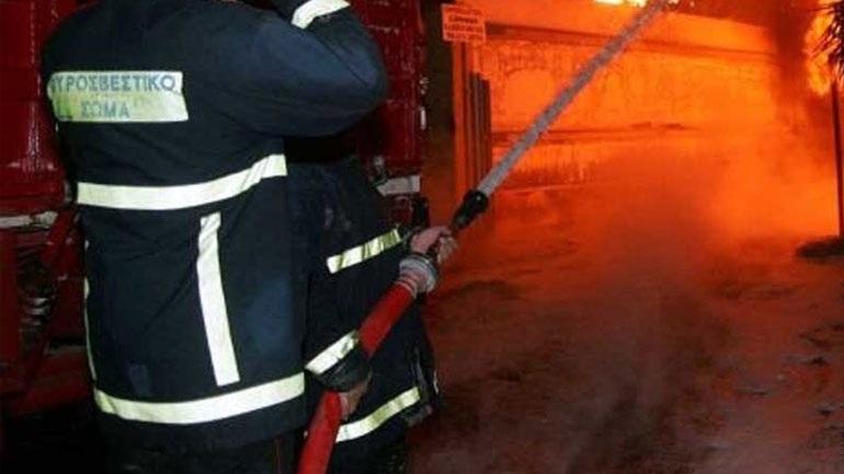Λάρισα: Μεγάλη φωτιά σε στάβλο - Κάηκαν ζώα