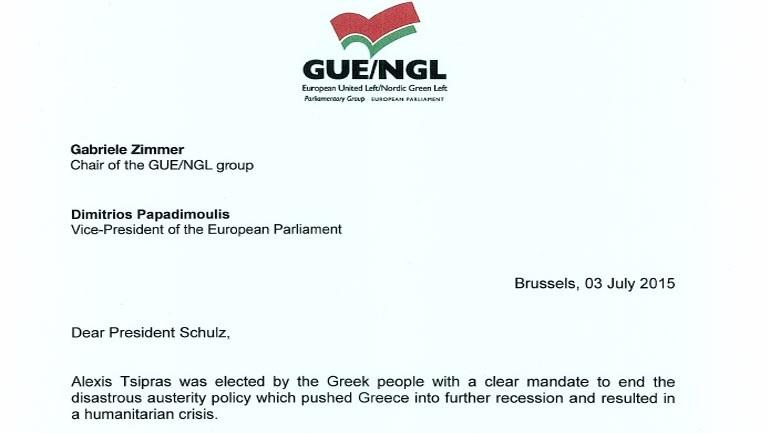 Κοινή επιστολή Τσίμερ - Παπαδημούλη προς Σουλτς: «Σταματήστε να αμαυρώνετε την ελ. κυβέρνηση και να παρεμβαίνετε μονομερώς»