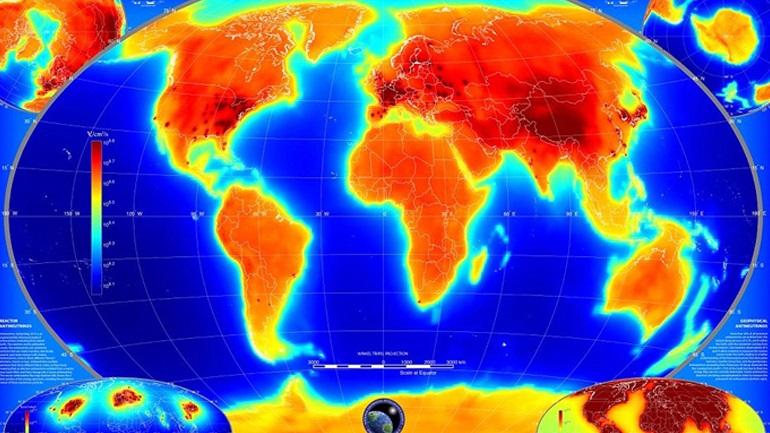 Ο παγκόσμιος χάρτης της ραδιενέργειας