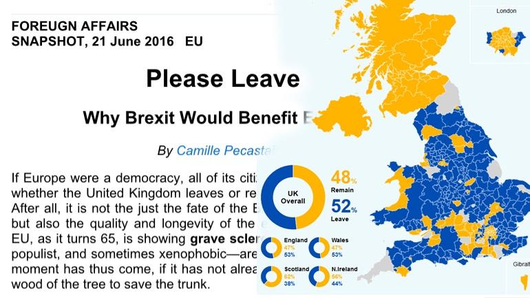 Το «προφητικό» άρθρο του περιοδικού Foreign Affairs και το δημοσίευμα του zougla.gr για το Brexit