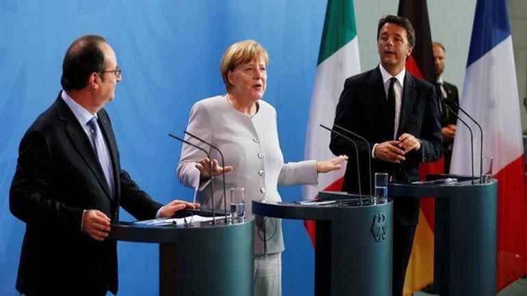 Συνάντηση Ολάντ-Μέρκελ-Ρέντσι - Το μέλλον της Ευρώπης στα χέρια τους