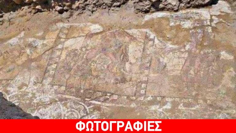 Eν αναμονή της αποκάλυψης αρχαίου ψηφιδωτού με τους Άθλους του Ηρακλή