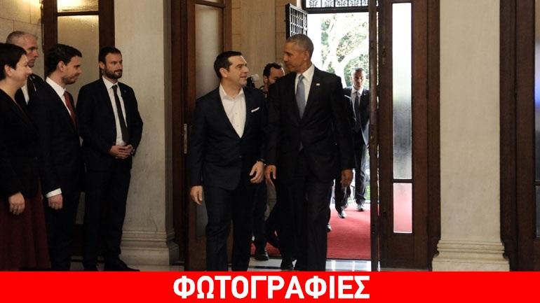 Οι κοινές δηλώσεις Ομπάμα-Τσίπρα στο Μέγαρο Μαξίμου