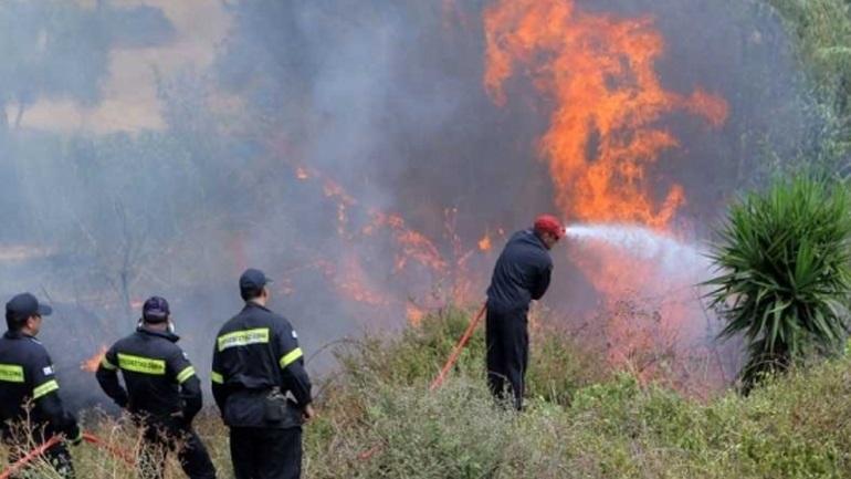 Σε εξέλιξη πυρκαγιά στην περιοχή των Λατομείων του Μαρκόπουλου