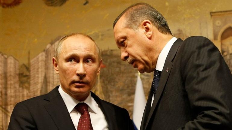 Eπικοινωνία Πούτιν-Ερντογάν για τη Συρία