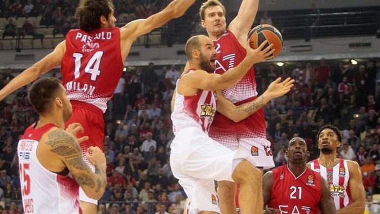 Φαβορί για την πέμπτη συνεχόμενη νίκη στην Ευρωλίγκα ο Ολυμπιακός στο Μιλάνο απέναντι στην Αρμάνι