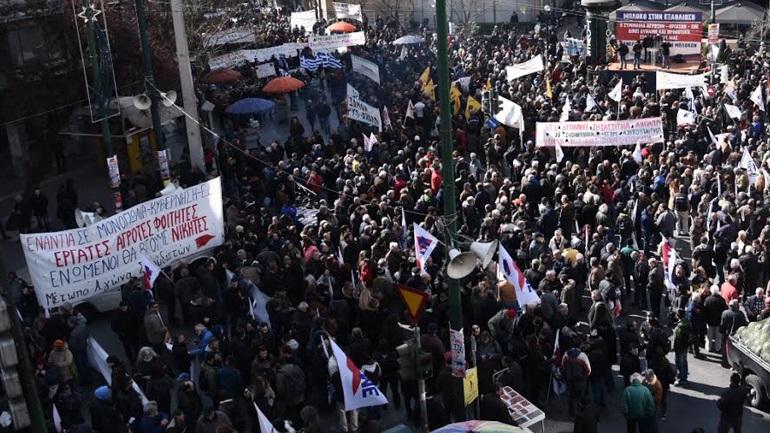 Αγροτικό συλλαλητήριο στην Αθήνα