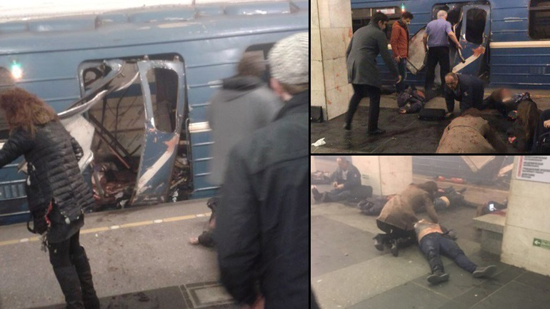 Πολύνεκρη έκρηξη στο Μετρό της Αγίας Πετρούπολης