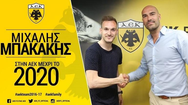 ΑΕΚ: Ανανέωσε το συμβόλαιό του και ο Μπακάκης