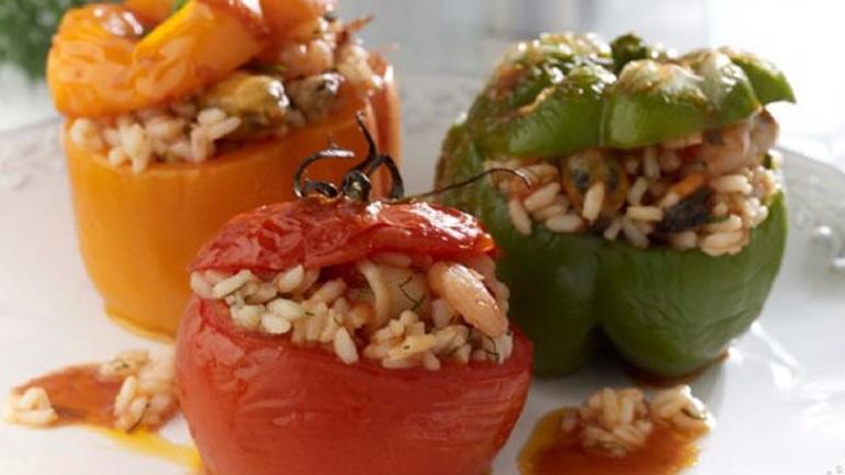 Γεμιστές πιπεριές με γαρίδες