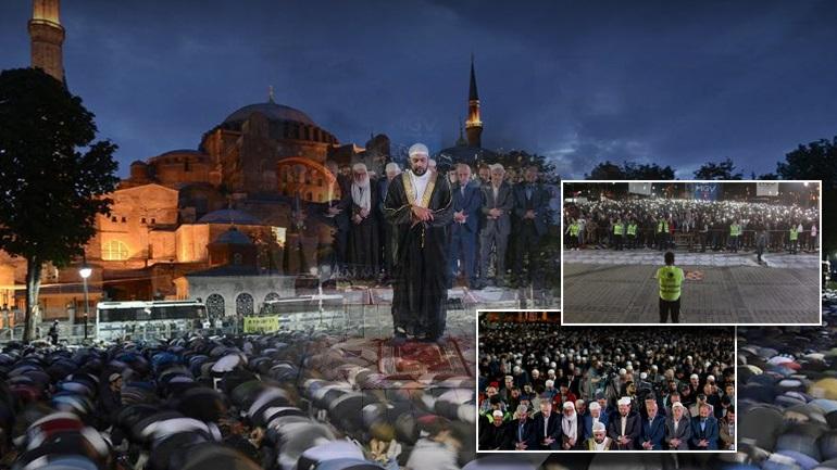 Προκλητική προσευχή τούρκων εθνικιστών στην Αγιά Σοφιά