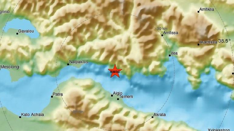Νέα σεισμική δόνηση έγινε αισθητή στο Αίγιο και σε άλλες γειτονικές περιοχές