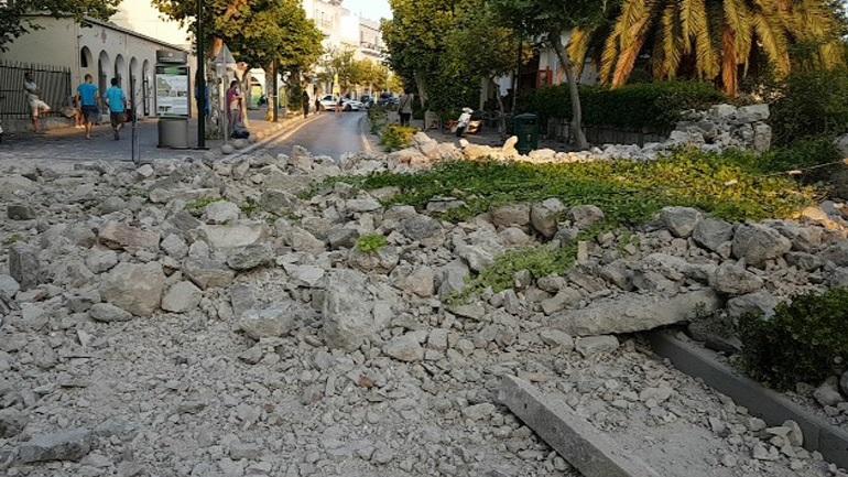Κως: Εικόνα καταστροφής από τις πρώτες πρωινές ώρες