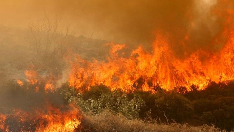 Πυρκαγιές σε Μεσσηνία - Κρήτη