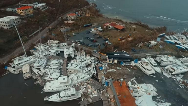 Η αποτύπωση του καταστροφικού περάσματος της Ίρμα από ψηλά