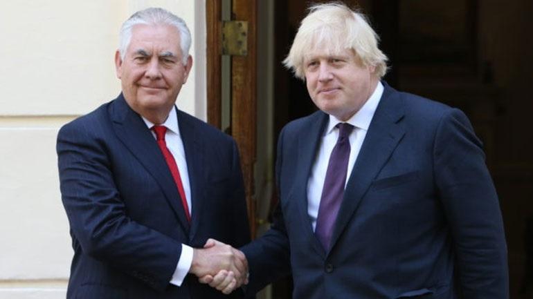 Τίλερσον: Οι ΗΠΑ θα σταθούν στο πλευρό του Λονδίνου στην πορεία προς τη διαμόρφωση του Brexit