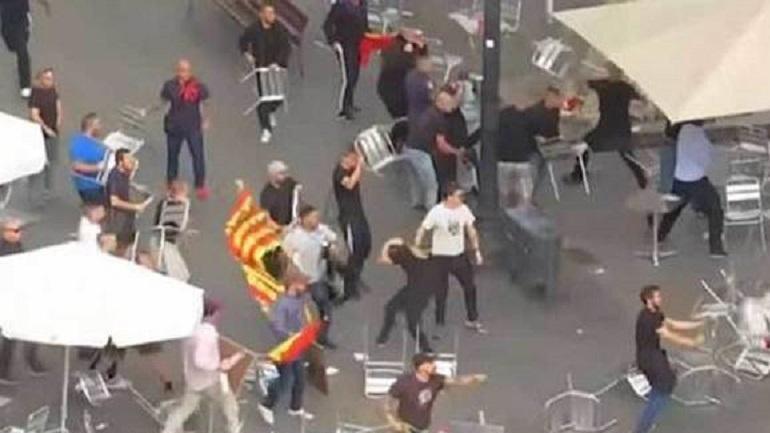 Οπαδικό… χάος στη Βαρκελώνη για την ανεξαρτησία της Καταλονίας!