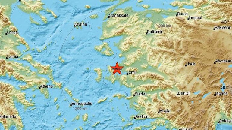 Σεισμός 4,8R αισθητός σε Λέσβο και Χίο