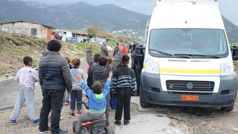 Επαναληπτικός εμβολιασμός 100 παιδιών Ρομά