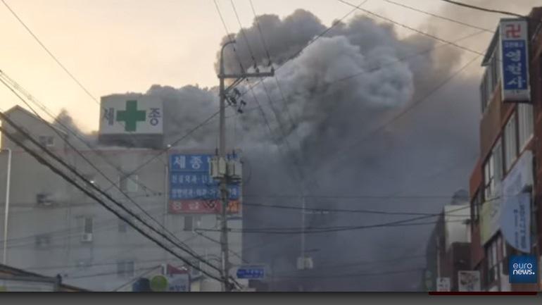 Η χειρότερη καταστροφή από το 2003 στη Ν. Κορέα: 41 νεκροί και 80 τραυματίες από πυρκαγιά σε νοσοκομείο