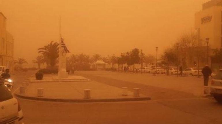 «Επιστρέφει» αύριο η αφρικανική σκόνη στην Κρήτη - Χιόνια στον Ψηλορείτη  2397640