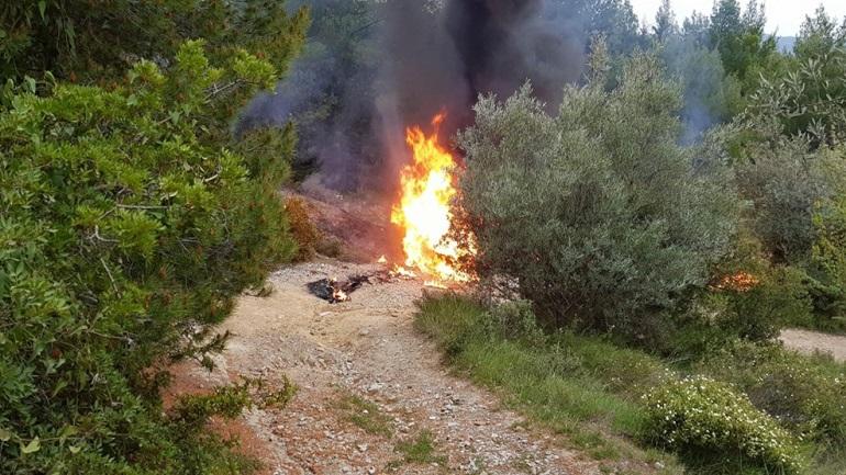 Πυροβολισμοί και φωτιά τα ξημερώματα στο δάσος της Βαρυμπόμπης 2409093