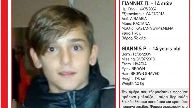 Αίσιο τέλος για τον 14χρονο Γιάννη