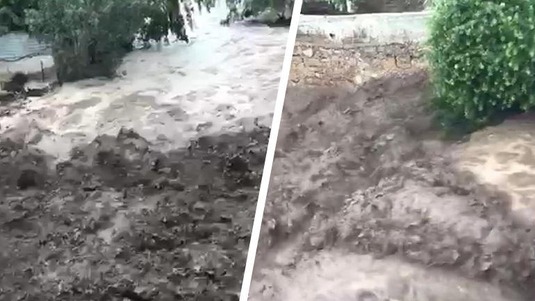 Υπερχείλισε το ρέμα της Πίκας λόγω της έντονης βροχόπτωσης