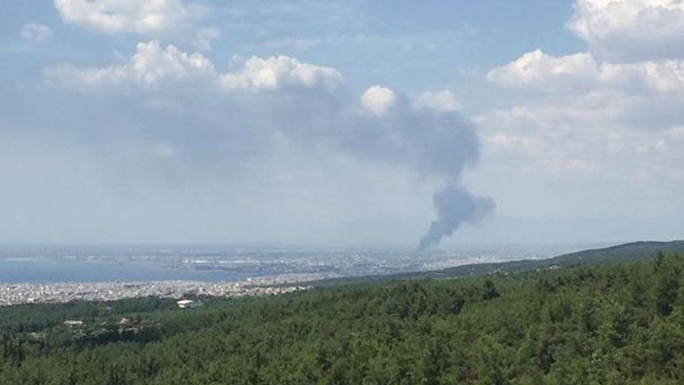 Thessaloniki: under fire control of the industrial area of Sindos