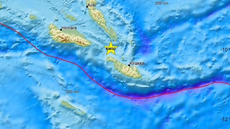 Σεισμική δόνηση 6,7R στα Νησιά Σολομώντα