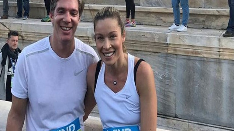Marietta Hrussala and Leo Patitsa run together on the 36th marathon in Athens!