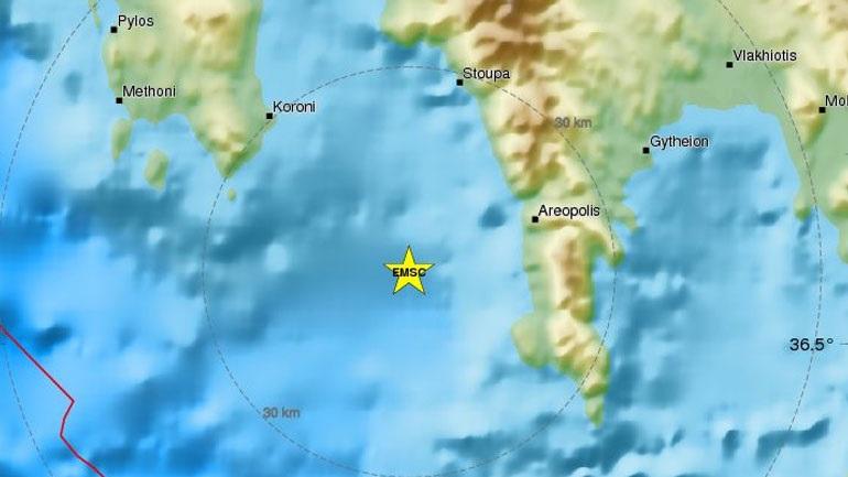 Σεισμική δόνηση 4,3R στη Νεάπολη Λακωνίας