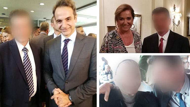 Ο μητροκτόνος του Μενιδίου πόζαρε με πολιτικά πρόσωπα