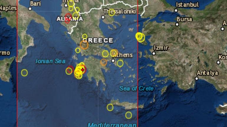 Σεισμός 3,7R νοτιοδυτικά της Ζακύνθου