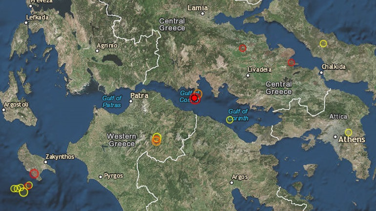 Σεισμός μεγέθους 5,2 Ρίχτερ στον Κορινθιακό