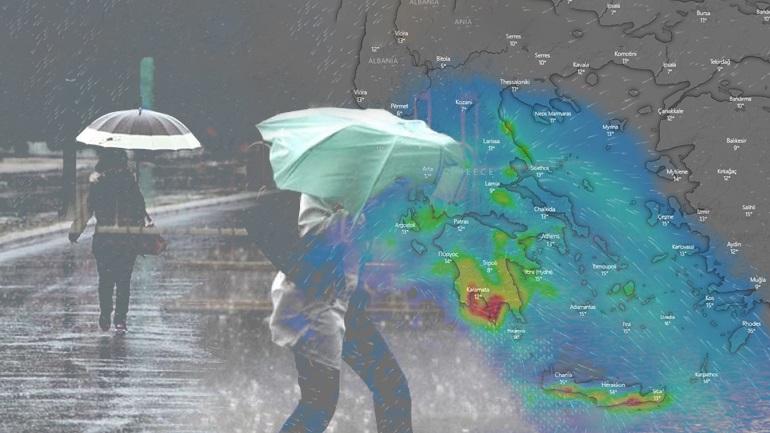 Λασποβροχή και έντονες καταιγίδες το Σάββατο στην Αττική