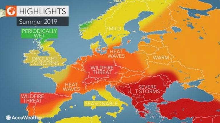 Αμερικανοί μετεωρολόγοι: Αστάθεια προβλέπεται για το φετινό καλοκαίρι στην Ελλάδα