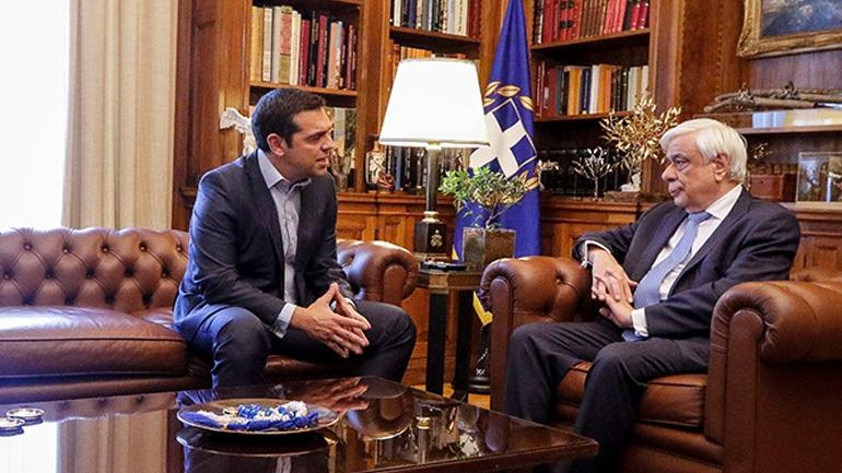 O Tσίπρας στον Πρόεδρο της Δημοκρατίας