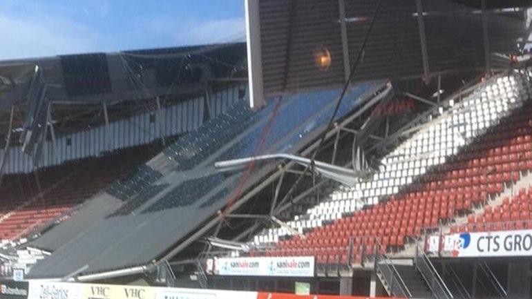 Ολλανδία: Από τους σφοδρούς ανέμους κατέρρευσε τμήμα από το στέγαστρο ενός γηπέδου ποδοσφαίρου