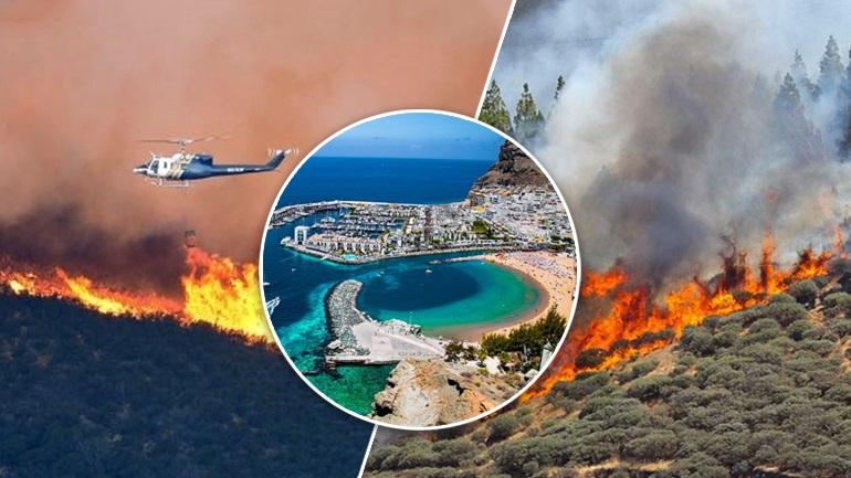 Στις φλόγες το Γκραν Κανάρια