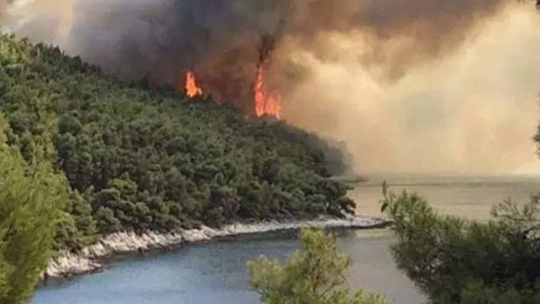 Επεκτείνεται η φωτιά της Θήβας - Κίνδυνος για τις παραλίες του Κορινθιακού!