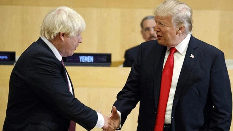 Συζητήσεις Τραμπ - Τζόνσον για προσωρινή εμπορική συμφωνία μετά το Brexit