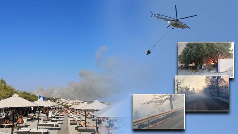Μεγάλη φωτιά στη Σάμο – Εκκενώθηκαν δύο ξενοδοχεία