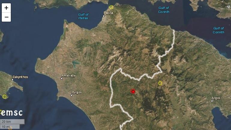 Σεισμός 3,9 Ρίχτερ στη Δημητσάνα