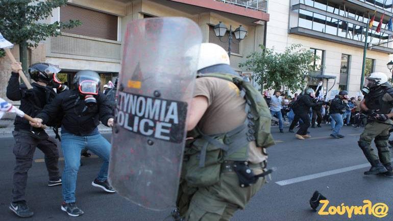 Ένταση και χημικά στη συγκέντρωση κατά του Πομπέο στο κέντρο της Αθήνας